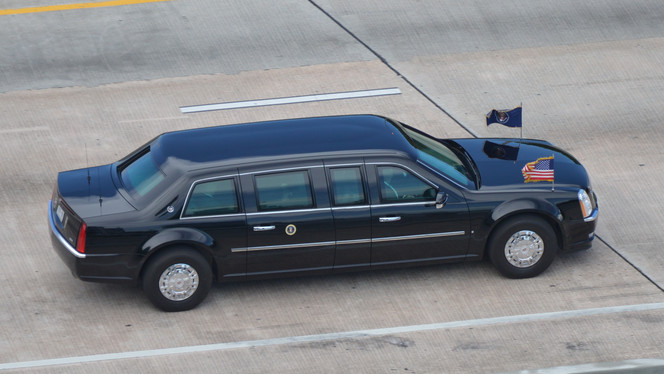 POTUS Crosses the Julia Tuttle Causeway
