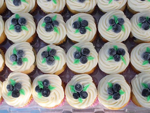 Lemon-Blueberry Cupcakes 1dozen