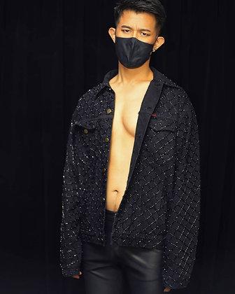 The Black Bead Grid Jacket
