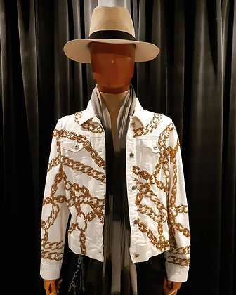 The Golden Bondage White Denim Jacket