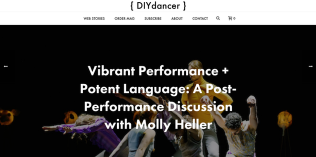 Molly Heller's choreography featured in DIYdancer