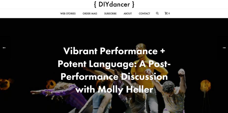 Molly Heller's choreography featured in DIYdancer