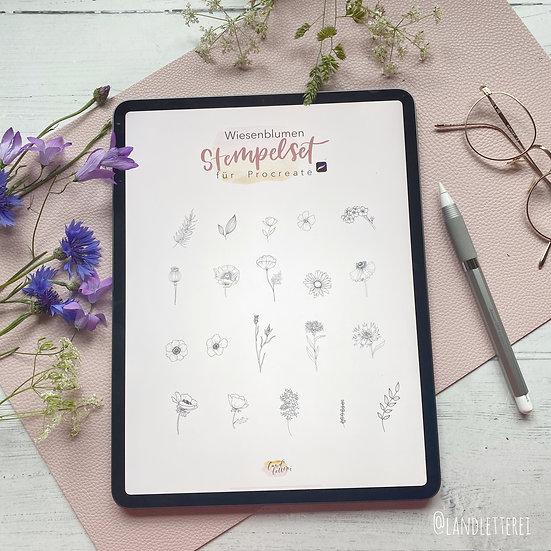 Wiesenblumen Stempel Set