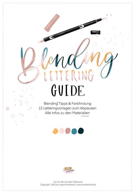 Blending Lettering Guide