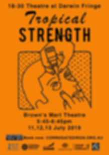finge poster TROPICAL STRENGTH orange .j