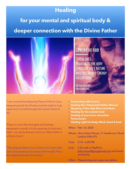 feb 1st divine father healing london jpe
