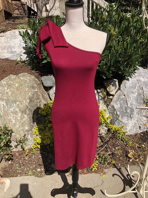 Deborah Viereck Wine Red Arcade dress