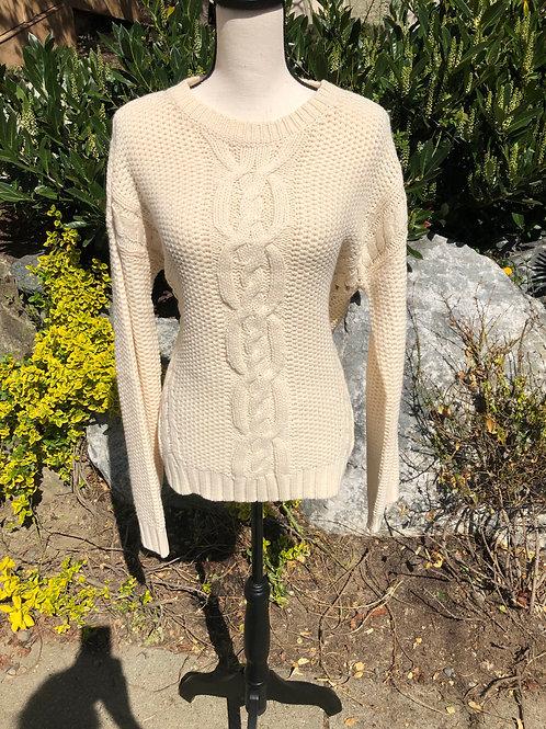 Hem & Thread White Soft Sweater