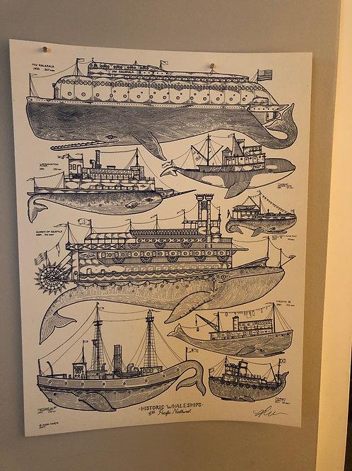 Kyler Martz Whale Ships Print