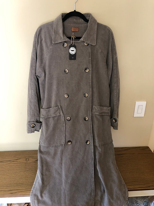 POL Graphite Double Breasted Coat