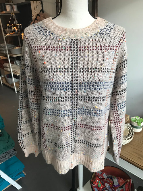 Hem & Thread Speckled Plaid Sweater