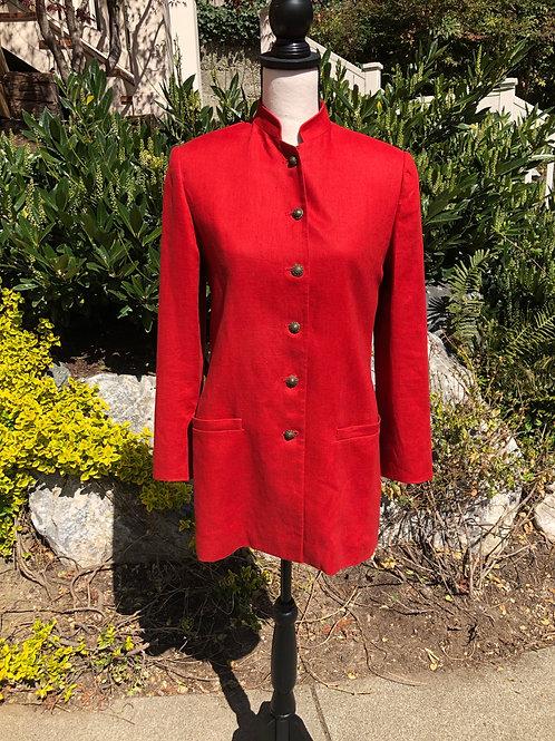 Ellen Tracy Linen Coat