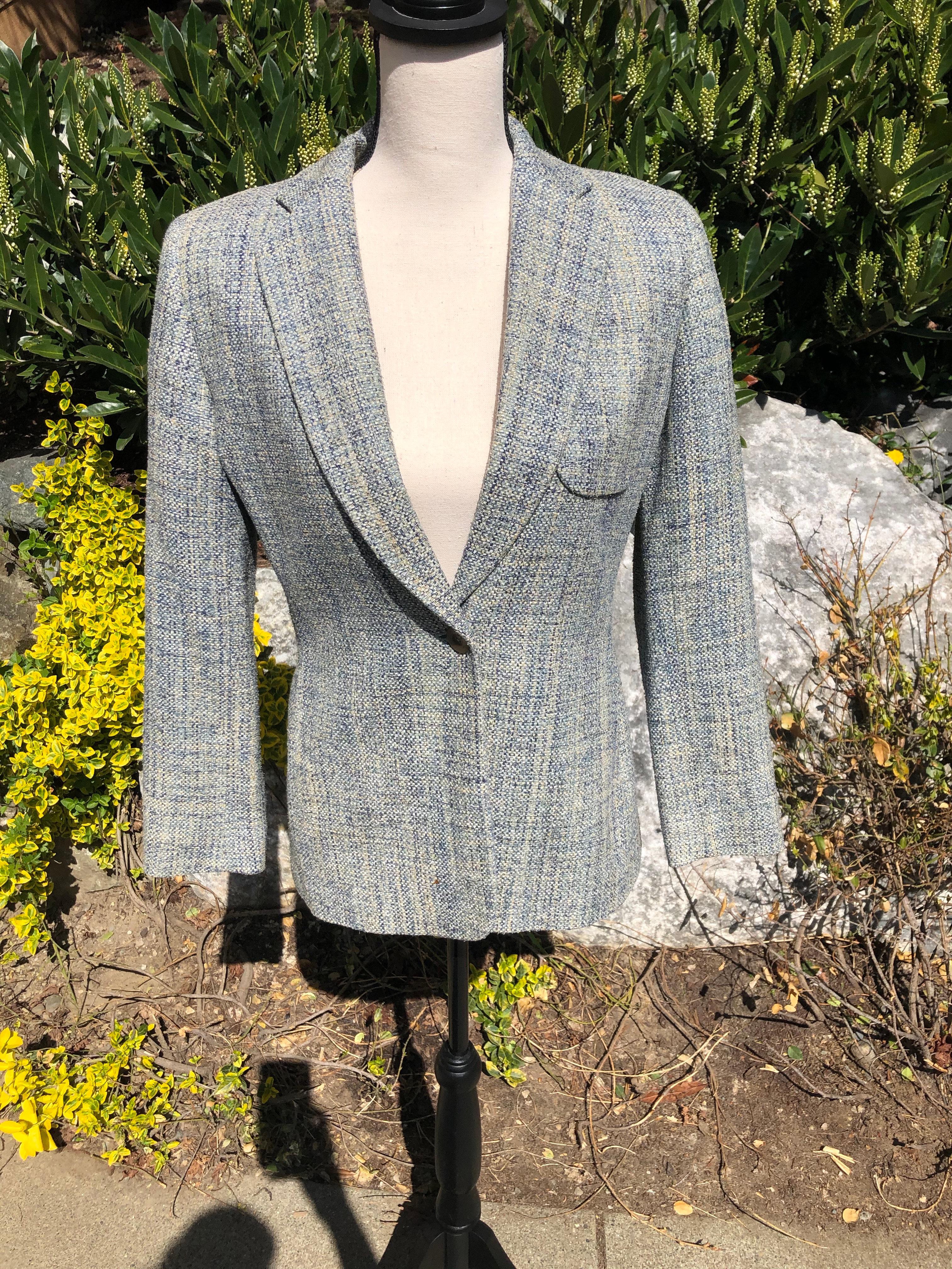 Vintage Austin Reed Petite Silk Blazer Intheivyandthread