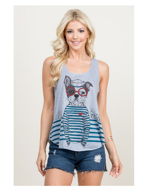 LA Soul Hello Sailor Dog Tank Top
