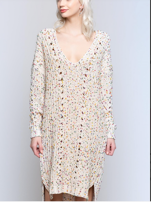 POL Confetti Sweater Dress