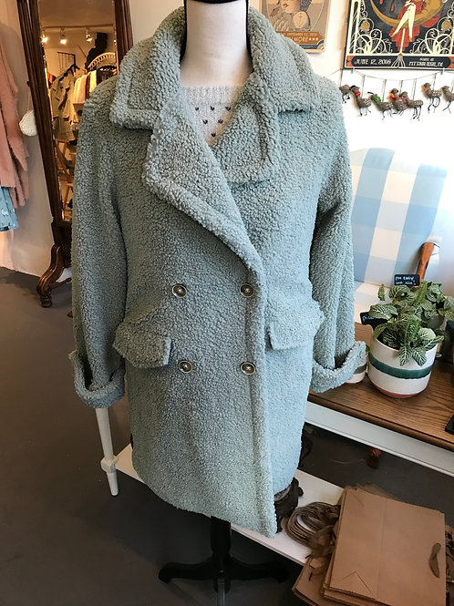 Woven Heart Sage Sherpa Jacket