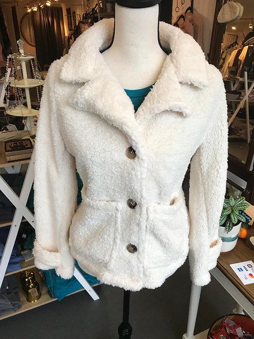 Blu Pepper White Sherpa Jacket