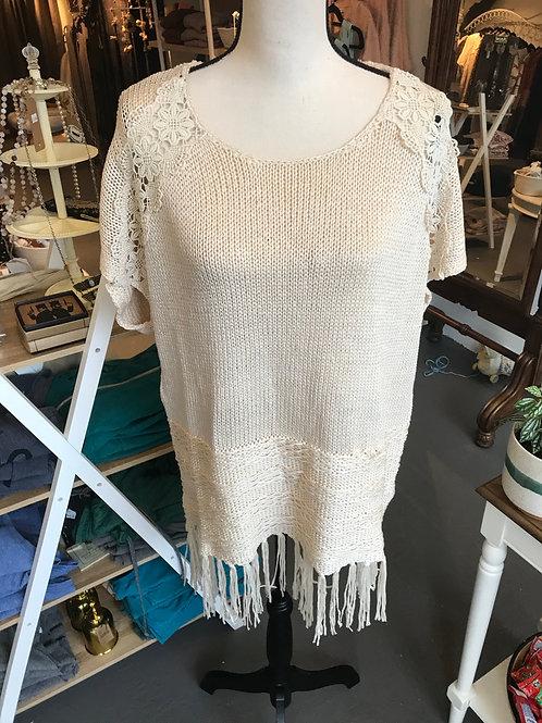 POL Fringe Sweater Dress