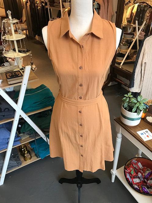Hem & Thread 100% Cotton Apricot Terra Cotta Dress