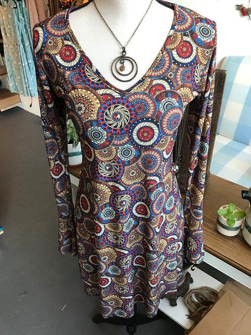 Deborah Viereck Ringo Flare Sleeves Dress