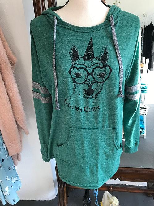 Revival Ink Llama Corn Hoodie
