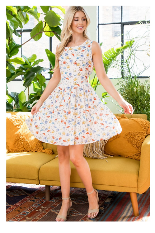 LA Soul Cream Umbrella Dress With Pockets!