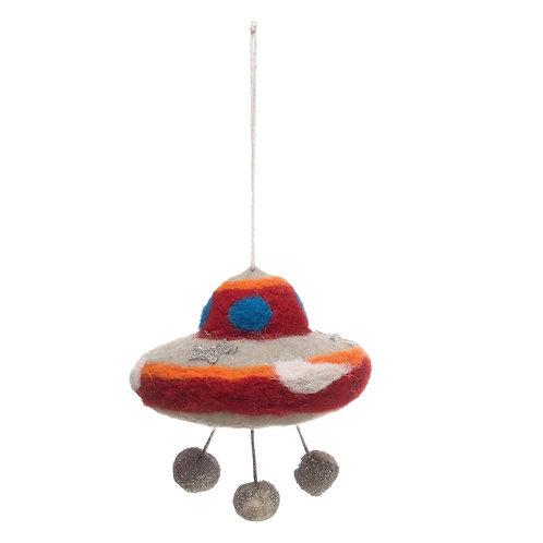 Wool/Felt UFO Ornament
