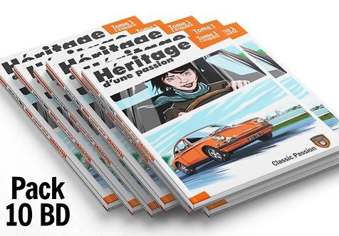 """Pack 10 BD """"Héritage d'une passion"""""""