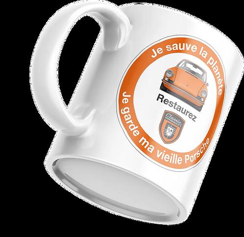 """Mug """"Je sauve la Planète"""" (orange)"""