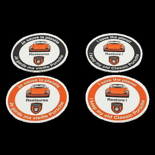 """Pack des 4 Stickers """"Je sauve la planète"""" en Français et Anglais"""