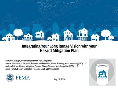 VPC presenting in FEMA Region III Coffee Break Webinars