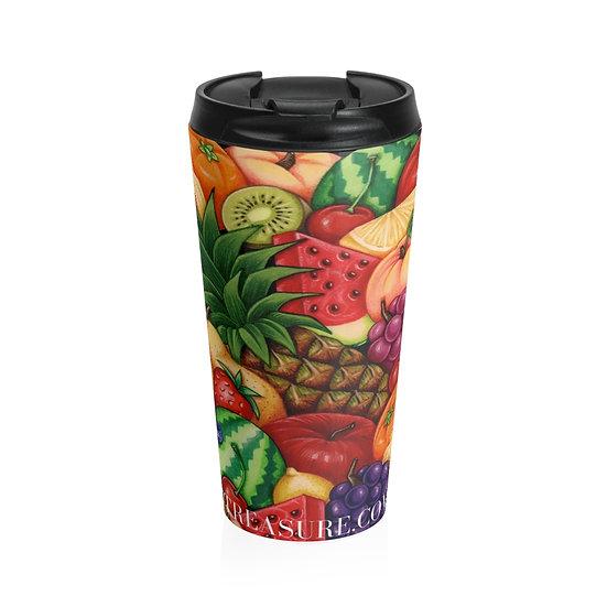 Mixed Fruit Stainless Steel Travel Mug 20oz
