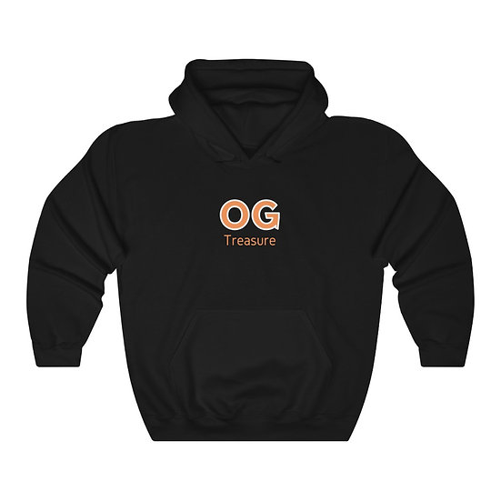Orange Bold OG Logo Black Hooded Sweatshirt