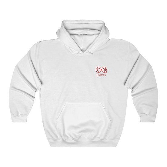 Red Outline OG Pocket Logo Hooded Sweatshirt