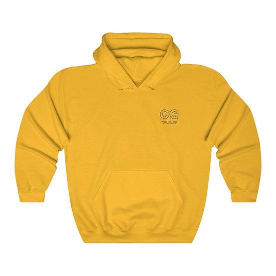 Grey Outline OG Pocket Logo Hooded Sweatshirt
