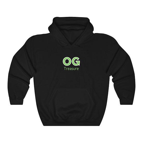 Green Bold OG Logo Black Hooded Sweatshirt