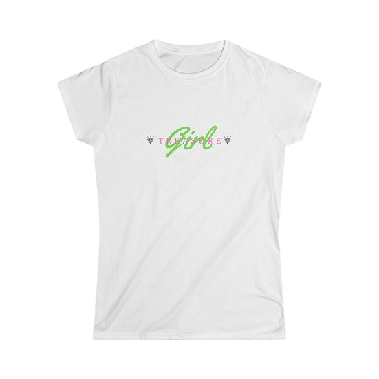 Treasure Girl Pink & Green Gem SoftStyle Tee