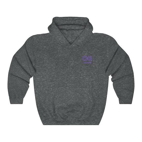 Purple Outline OG Pocket Logo Hooded Sweatshirt