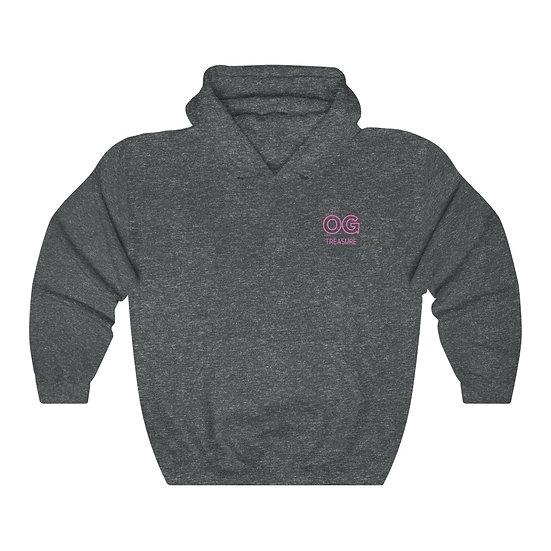 Pink Outline OG Pocket Logo Hooded Sweatshirt