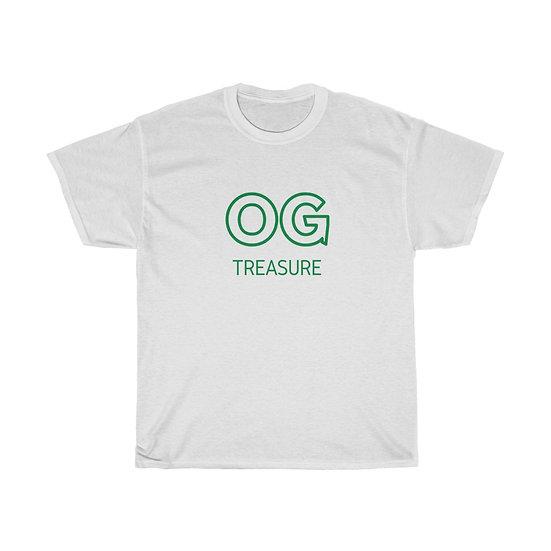 Green Outline OG Logo White Tee