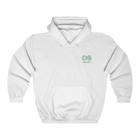 Green Outline OG Pocket Logo Hooded Sweatshirt