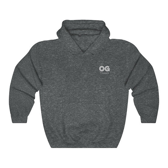 Grey Bold OG Pocket Logo Hooded Sweatshirt