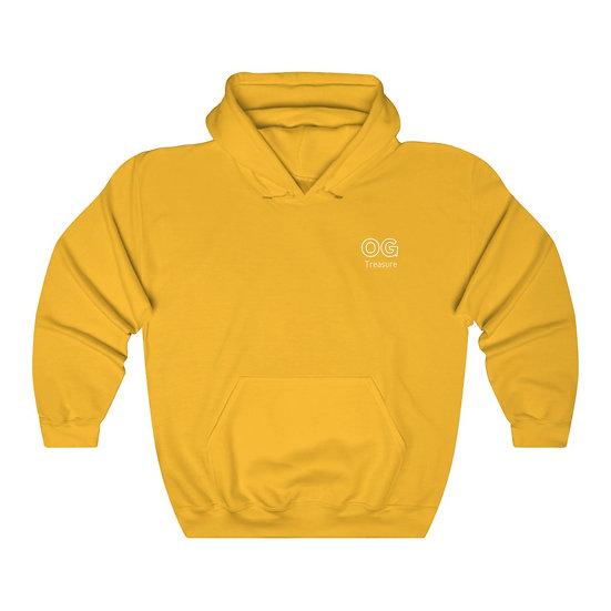 White Outline OG Pocket Logo Hooded Sweatshirt
