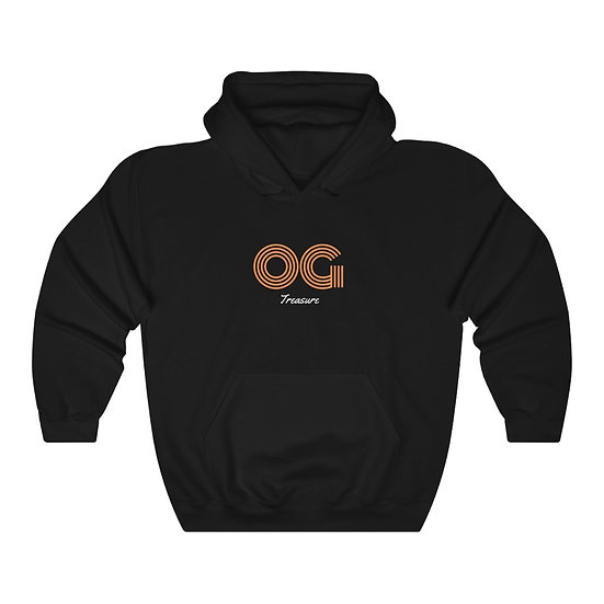 Orange Triple Line OG Black Hooded Sweatshirt
