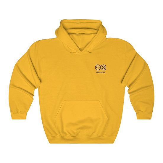 Black Outline OG Pocket Logo Hooded Sweatshirt