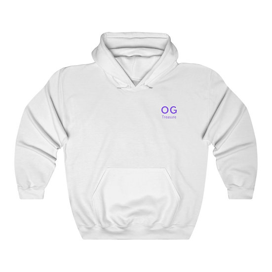 Purple Bold OG Pocket Logo Hooded Sweatshirt