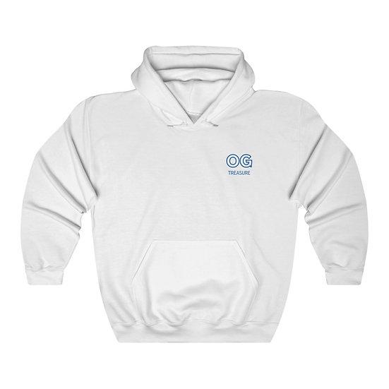 Blue Outline OG Pocket Logo Hooded Sweatshirt