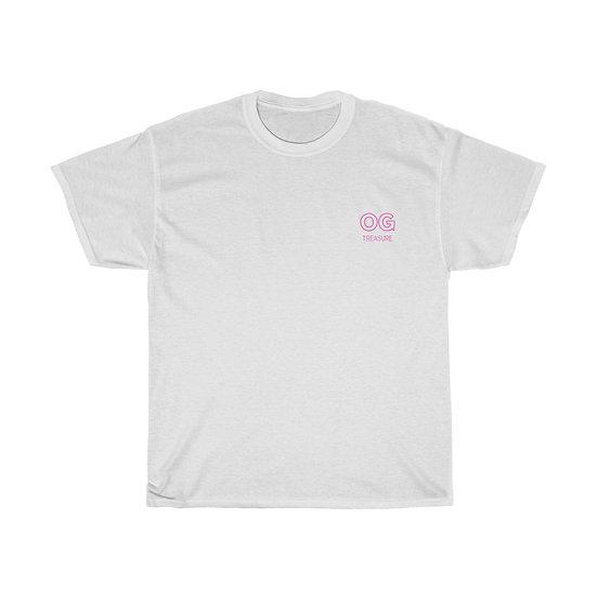 Pink Outline OG Pocket Logo Tee