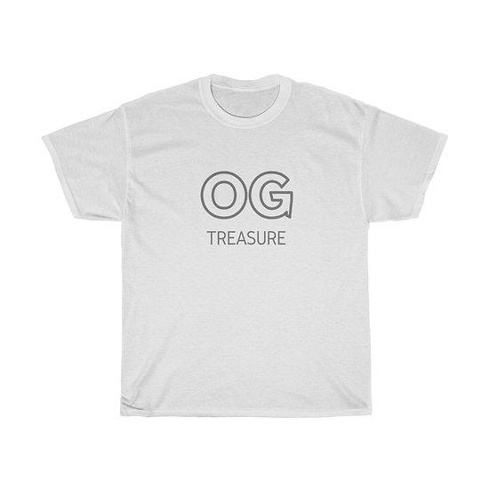 Grey Outline OG Logo White Tee