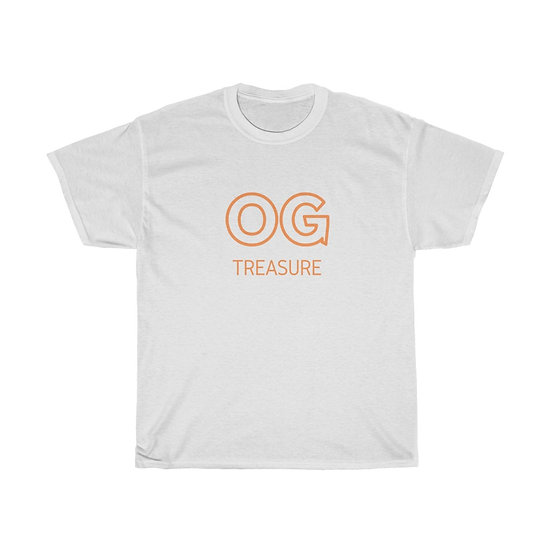 Orange Outline OG Logo White Tee